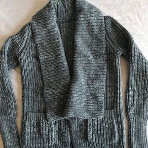 JCREW marbled ribbed stitch open sweater cardigan